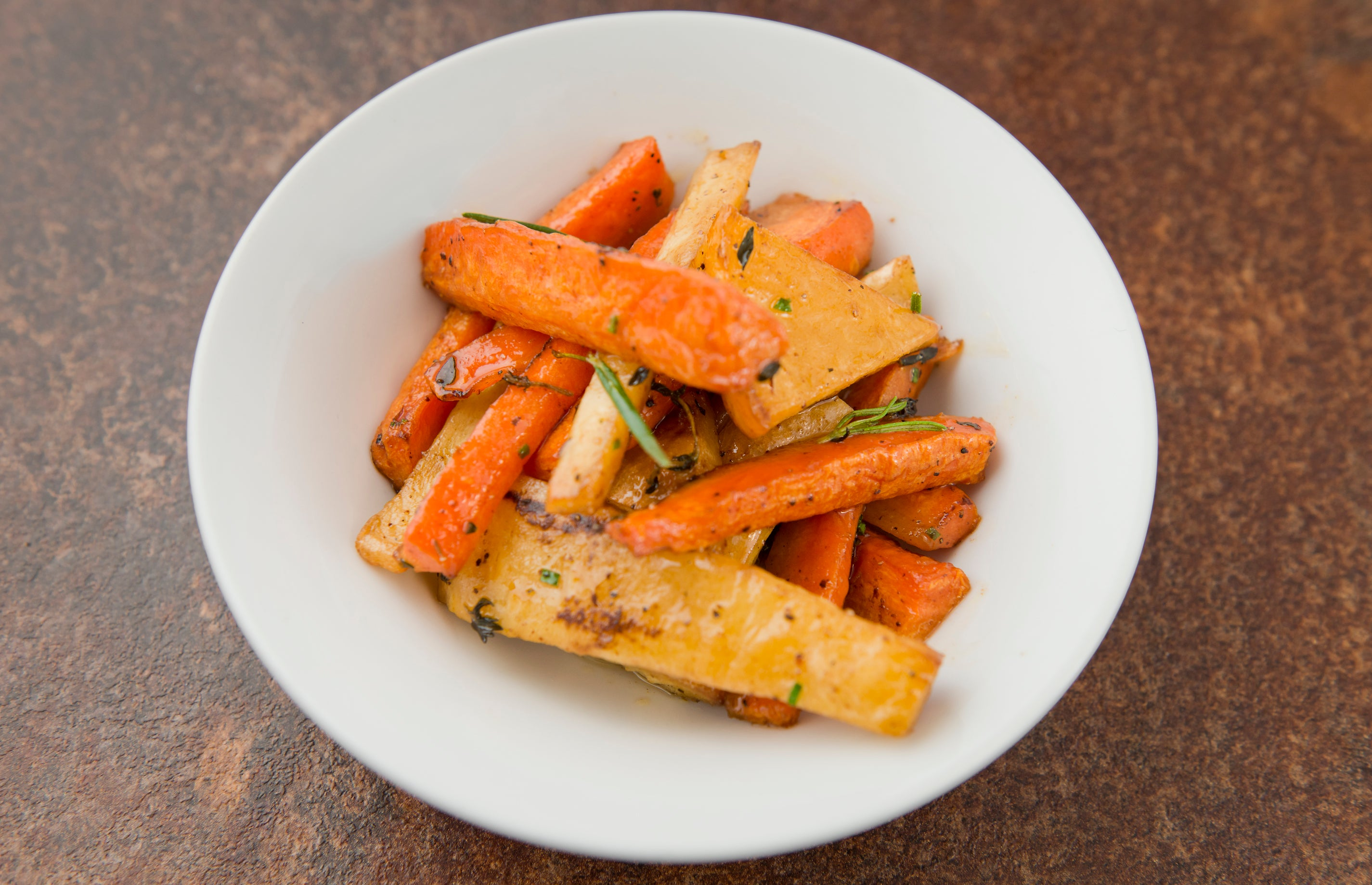 Roast root vegetables (VG)