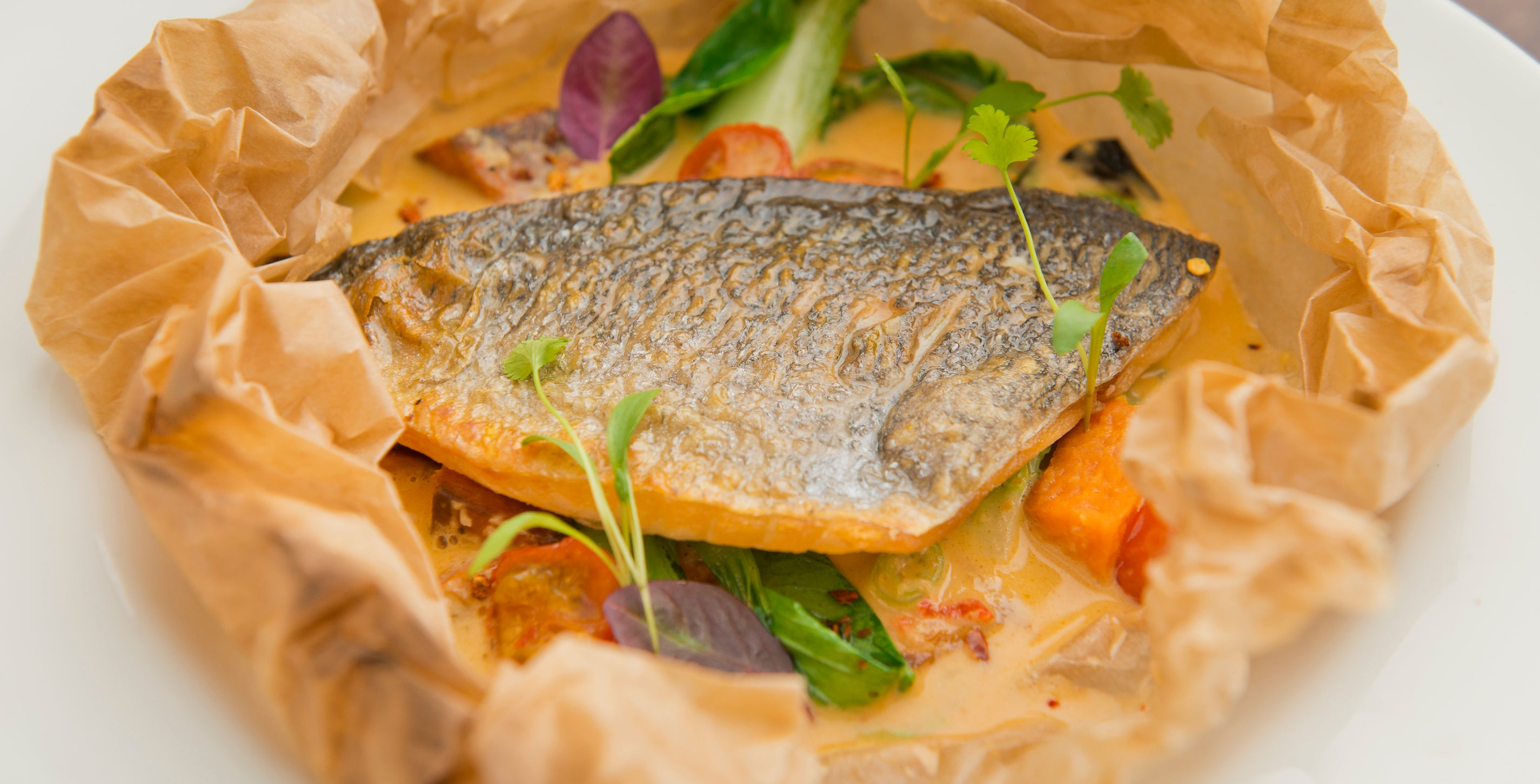 Thai sea bream en papillote