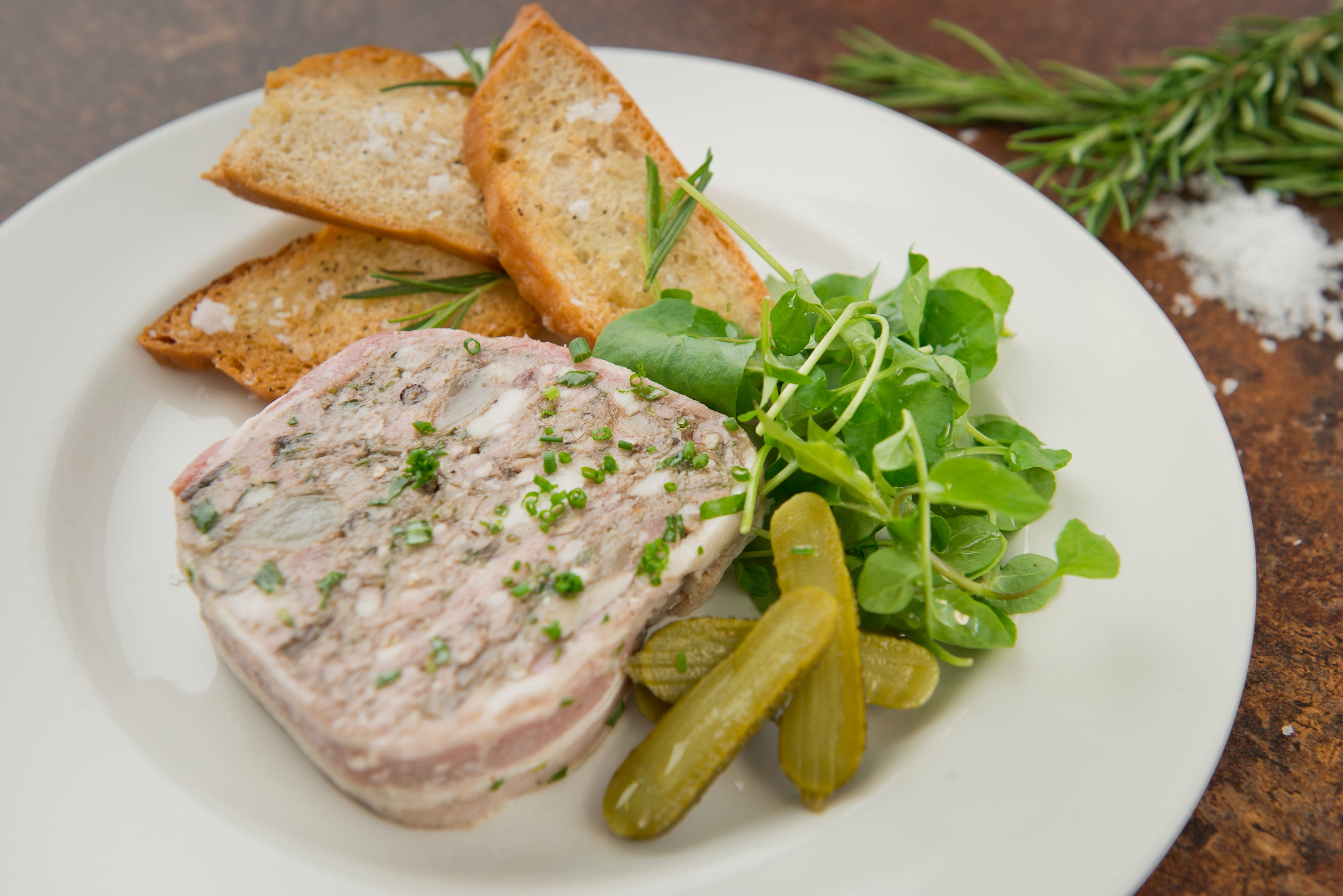 Pork terrine with crostini