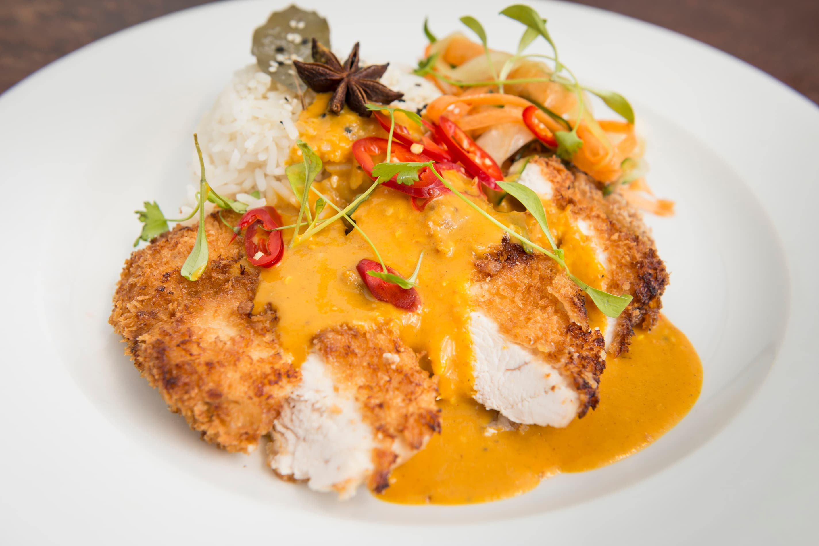 Chicken Katsu curry & steamed rice