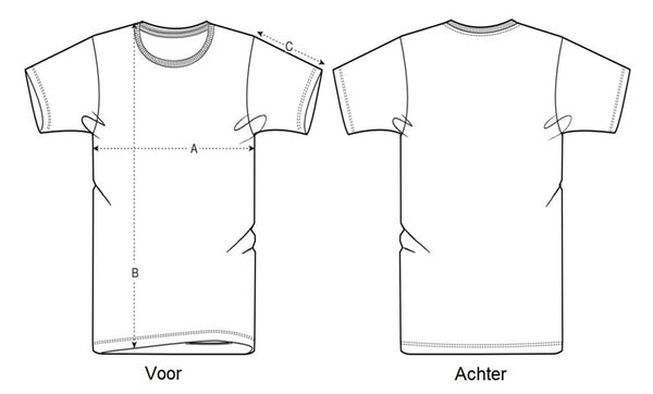 Maattabel T-shirt