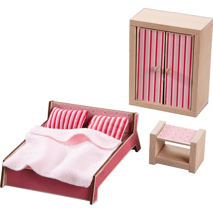 Haba Little Friends - Dollhouse Furniture Master Bedroom