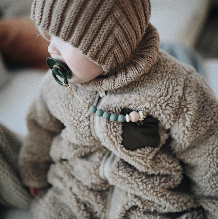 Mushie Pacifier Clip | Cora (Dried Thyme)