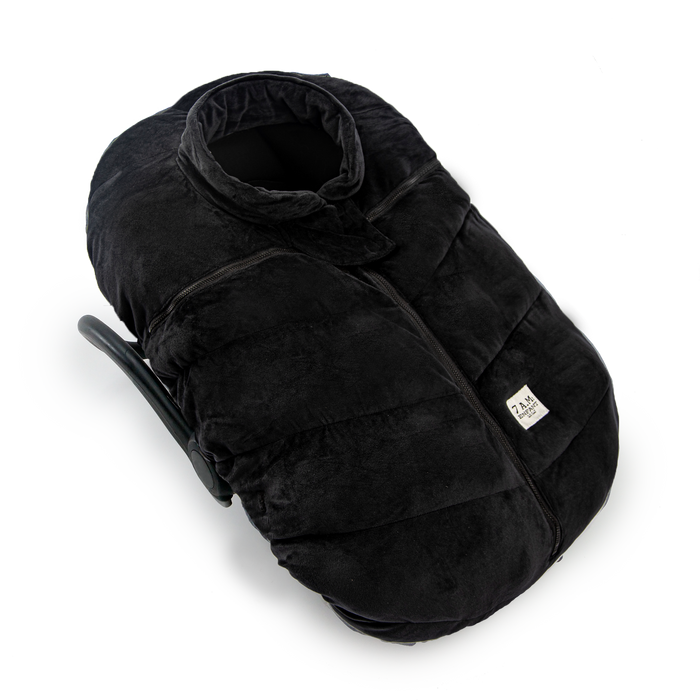 7AM Car Seat Cocoon Velour Footmuff | Cotton