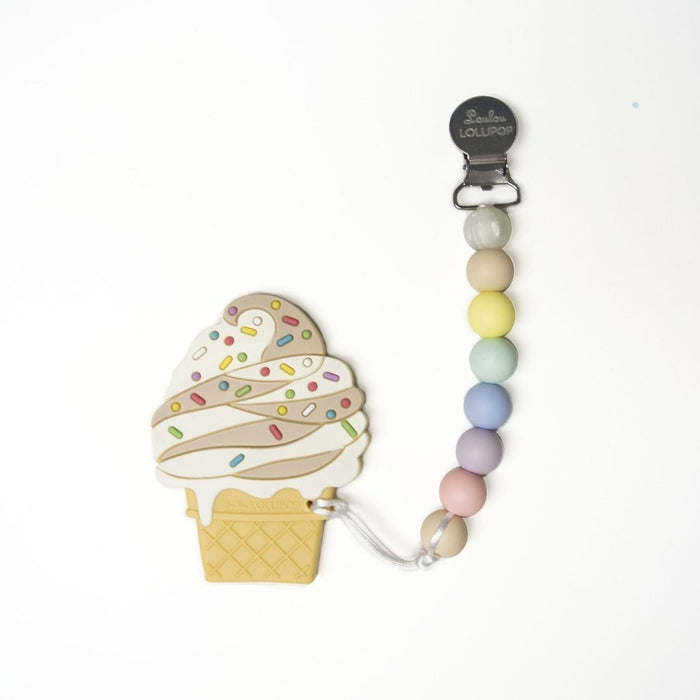 Loulou Lollipop Ice Cream Teether with Holder Set