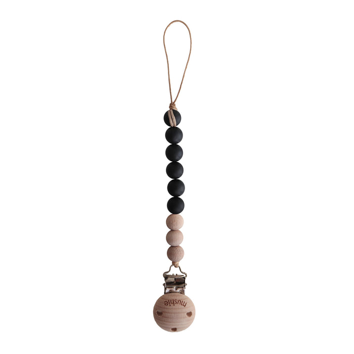 Mushie Pacifier Clip | Cleo (Black)