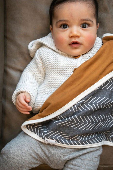 Copper Pearl Three-Layer Security Blanket Set - Canyon
