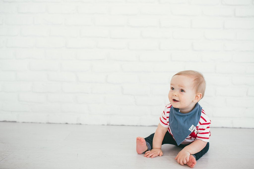 Baby Bandana Bibs - Oxford - Copper Pearl - 3