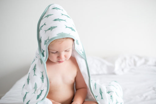 Muslin Hooded Towel - Pacific - Copper Pearl - 2