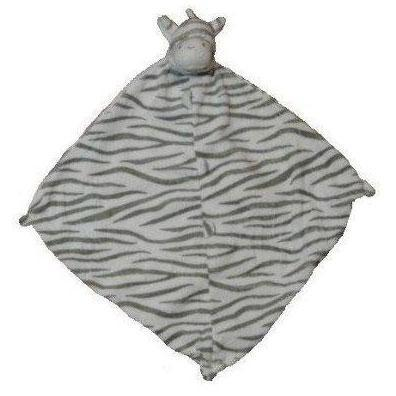 Angel Dear Lovie Blankie Grey Zebra