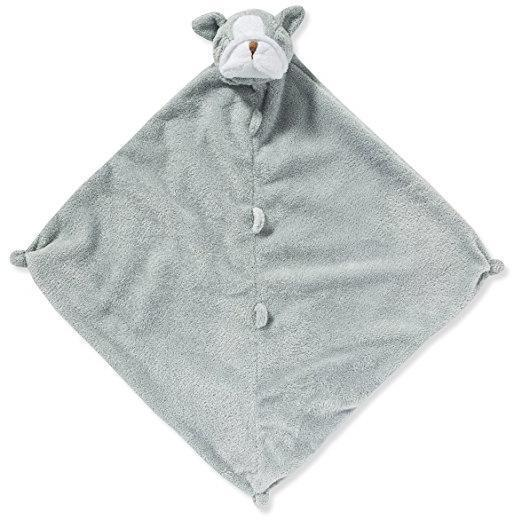 Angel Dear Lovie Blankie Grey Bulldog