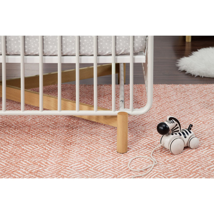Babyletto Bixby 3-in-1 Convertible Metal Crib with Toddler Bed Conversion Kit