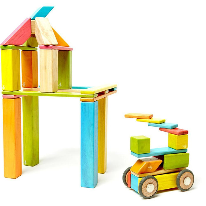 Tegu 42-Piece Magnetic Block Set - Tints