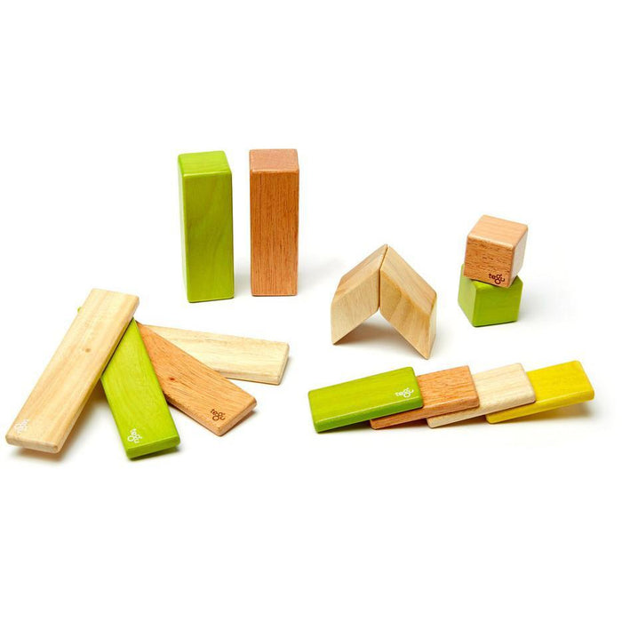 Tegu 14-Piece Magnetic Block Set - Jungle