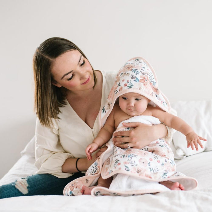 Copper Pearl Muslin Hooded Towel - Autumn
