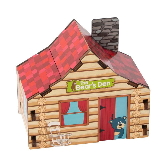 Fat Brain Toys Build It Blueprint Puzzles - Cabin
