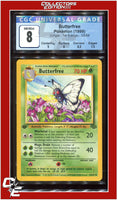 Jungle 1st Edition Butterfree 33/64 CGC 8 - PSA BGS
