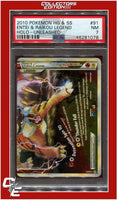 Unleashed 91 Entei & Raikou Legend Holo PSA 7 (pop. 10)