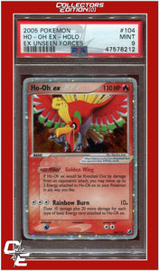 EX Unseen Forces 104 HO-Oh EX Holo PSA 9