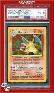 Base Set 4/102 Charizard Holo PSA 4