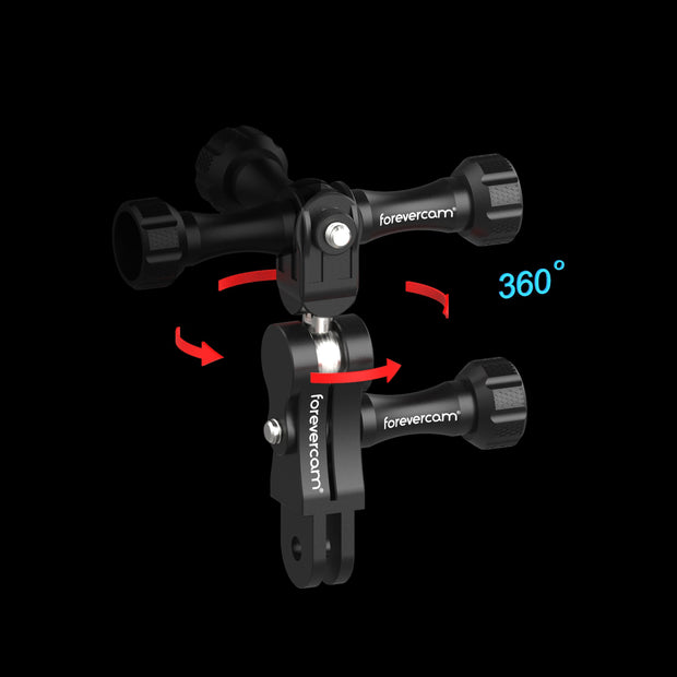 Aluminum Extension Mount,Universal Ball Joints Mount,Aluminum Ball Joint Mount,Shock-Resistant,Compatible with Gopro Hero 8/7/6/5 DJI OSMO Sports Camera gopro Swivel Mount