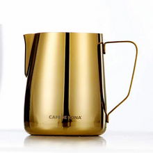 Cafede Kona Stainless Steel Milk Pitcher (Gold)