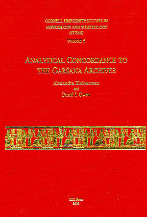CUSAS 04 - Analytical Concordance to the Garsana Archives