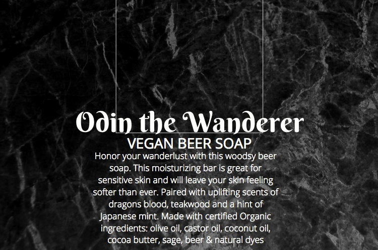 Odin The Wanderer, Vegan Beer Soap