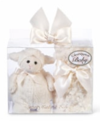 Bearington Baby Lamby Lamb Security Blanket and Plush