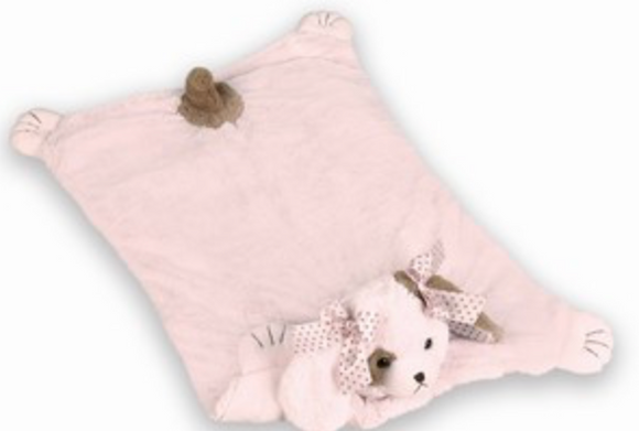 Bearington Baby Pink Wiggles Belly Blanket