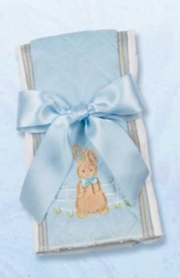 Bearington Baby Bunny Tail Burp Pad