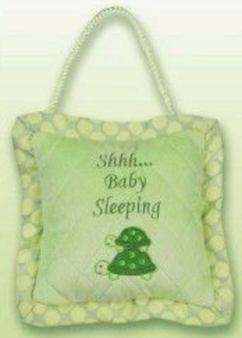 Bearington Baby Tiggles Turtle Sleeping Pillow/Door Hanger