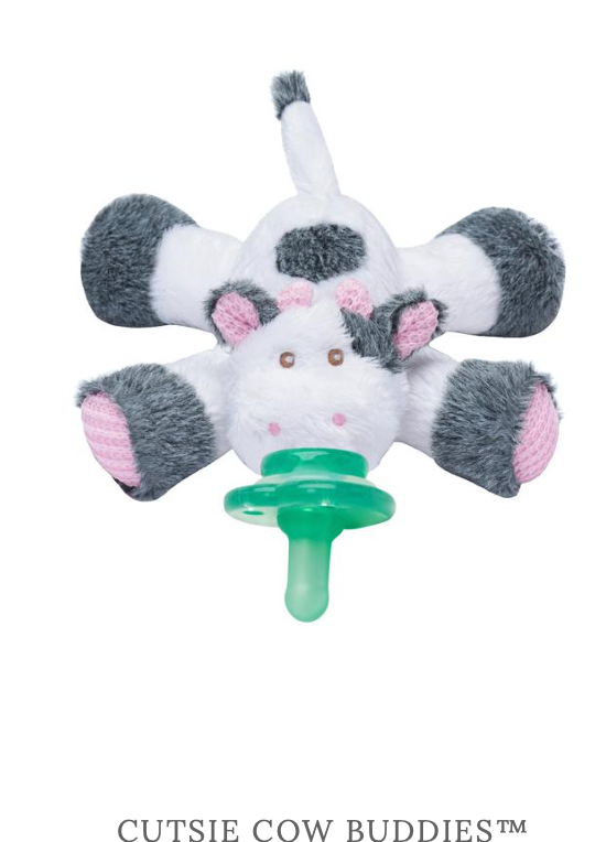 Nookums Pacifier-Cutie Cow Buddies