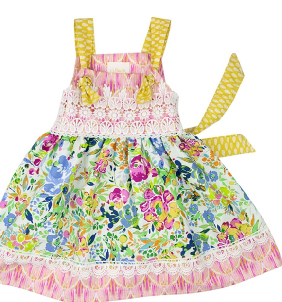 Haute Baby Little Girls Floral Fantasy Sundress