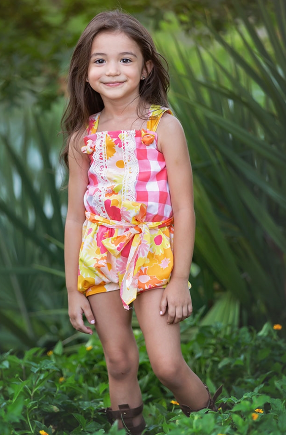 Haute Baby Little Girls Polly's Picnic Romper