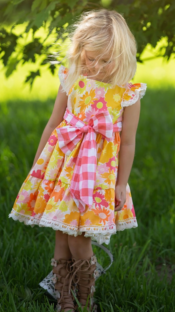 Haute Baby Toddler Polly's Picnic Dress