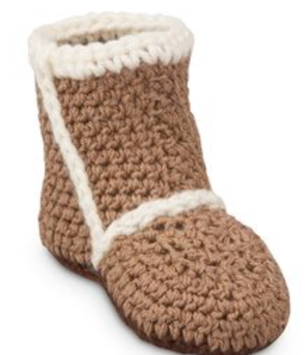 Baby Booties- Crocheted Booties-Brown