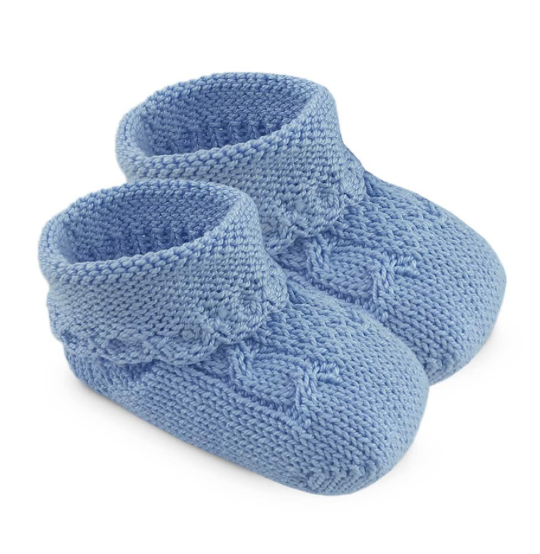 Baby Booties-Blue Socks