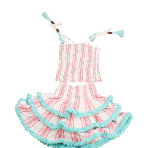 Mer St. Barth Louisa 2 pc. Top and Ruffled Skirt