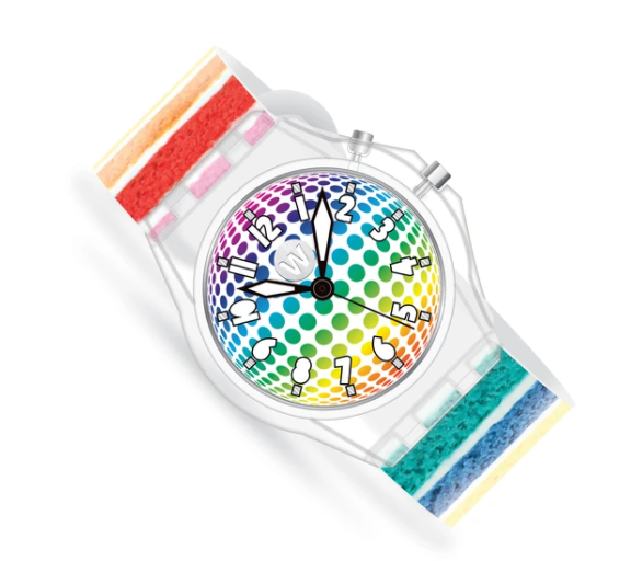 LED Light Up Watch - Rainbow Cake