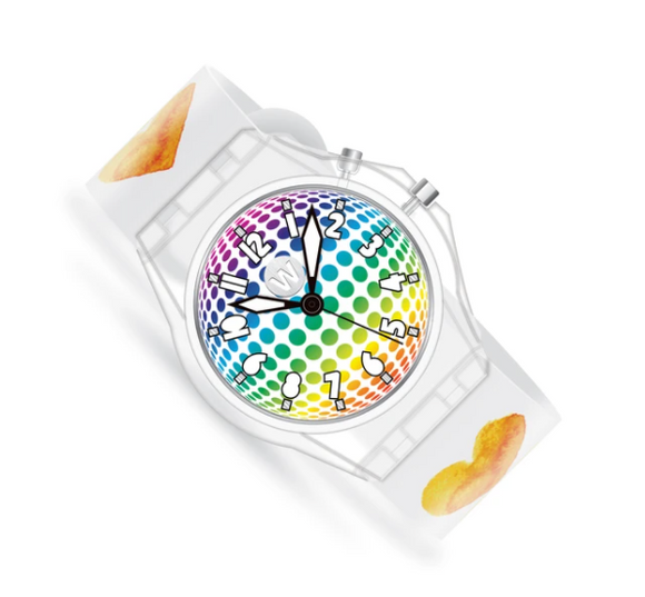 LED Light Up Watch - Watercolor Hearts