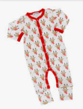 Magnolia Baby Christmas Rudolph Romper
