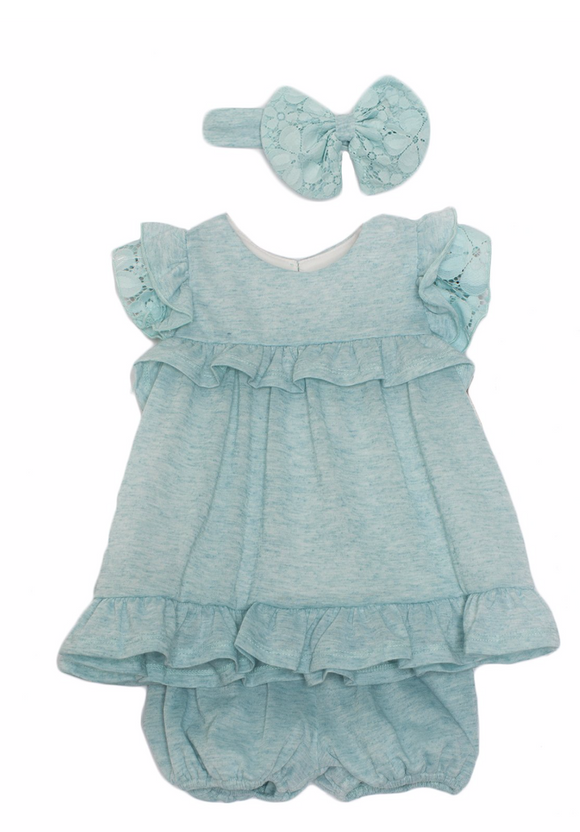 Blue Ruffle Knit 2 pc. by Isobella and Chloe