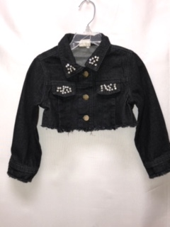 ML Kids Girls Crop Denim Jacket