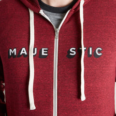 Unisex Classic Majestic Zip Hoodie - Red