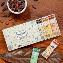 CHOCOLATE GIFT BOX - PACK OF FIVE 27G BARS