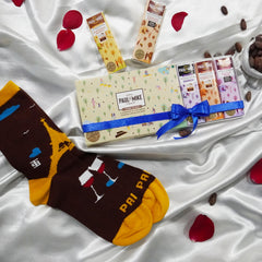 SockSoho  Socks X Paul And Mike Gift Box Pack of Award Winners Five 27G Bars- COMBO PACK