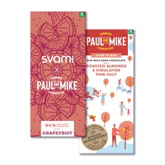 SVAMI X PAUL AND MIKE 64% DARK ROASTED ALMOND COMBO PACK