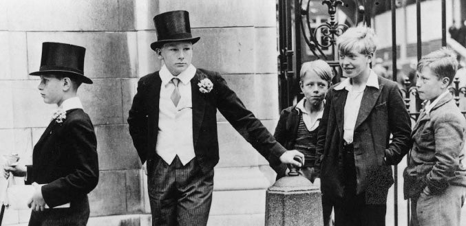 A couple of very young upcoming Etonians