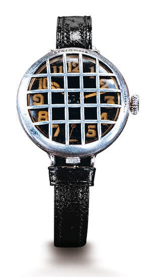 Wristwatch supposedly produced by Constant Girard in 1879 for German navy officers.